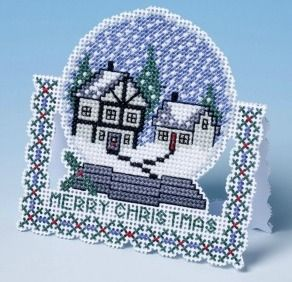 snow globe 3d cross stitch smaller