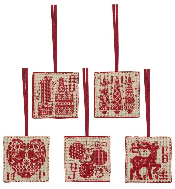Christmas Cross Stitch Tags Kit