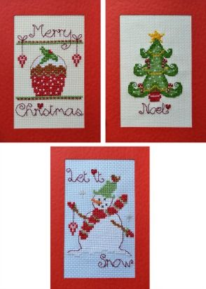 christmas cross stitch card kits