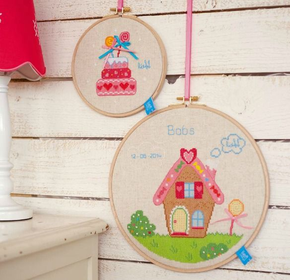 Cross Stitch Hoop Kits