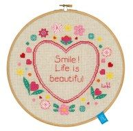 life is beautiful hoop kit
