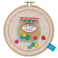 button jar cross stitch kit