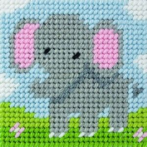elephant cross stich