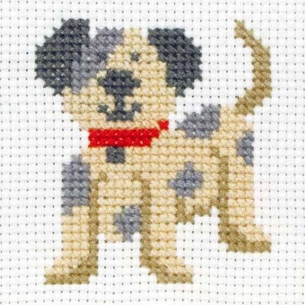 toby dog cross stitch kit