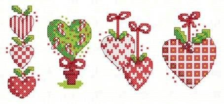 hearts christmas cards