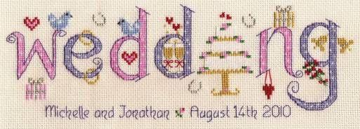forever friends wedding sampler cross stitch kit
