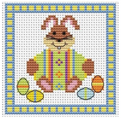 BUNNY FRIENDS Design Works Cross Stitch Greetings Card Cross Stitch Kit