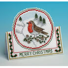 Christmas Robin Card 3D Cross Stitch Kit