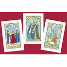 Stained Glass Christmas Card Cross Stitch Kits (Set Of 3)