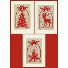 Christmas Silhouette Cross Stitch Card Kits (Set Of 3)