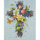 Spring Floral Cross Stitch Kit