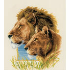 Lion Duo Cross Stitch Kit