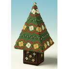 Red & Gold Small Tree 3D Cross Stitch Kit