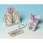 Purple Iris Cross Stitch Gift Set Trio