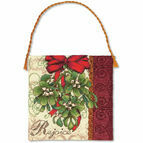 Mistletoe Ornament Cross Stitch Kit
