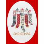 Christmas Stockings Card Cross Stitch Kit
