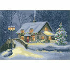 Christmas Cottage Cross Stitch Kit