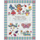 Bug In A Rug Birth Sampler Cross Stitch Kit