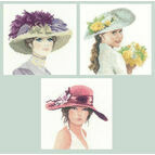 Set Of 3 Elegance Miniature Portrait Kits - Hannah, Alice & Sally