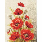 Poppies & Swirls Cross Stitch Kit