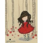 Gorjuss Poppy Wood Cross Stitch Kit