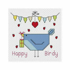 Happy Birdy Cross Stitch Card Kit