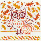 Autumn Owl Cross Stitch Kit