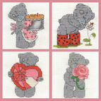 Tatty Teddy Mini Kits Set Of 4 Cross Stitch Kits (Set A)