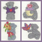 Tatty Teddy Mini Kits Set Of 4 Cross Stitch Kits (Set B)
