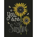Sunshine Chalkboard Cross Stitch Kit