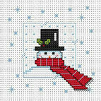 Snowy Snowman Cross Stitch Card Kit