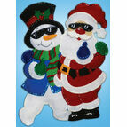 Cool Dudes Christmas Wall Hanging Felt Kit
