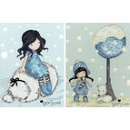 Gorjuss Winter Friend and Fox Gloves Set Of Two Cross Stitch Kits
