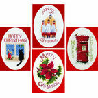 Top Sellers Collection Set Of 4 Christmas Card Cross Stitch Kits