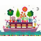 Funky Houseboat Cross Stitch Kit