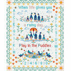 Play In The Puddes Cross Stitch Kit