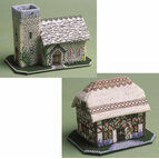 Foxglove Cottage And The Church - Set Of 2 3D Cross Stitch Kits