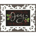 Joy Chalkboard Cross Stitch Kit With Frame