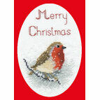 Snow Robin Christmas Card Cross Stitch Kit