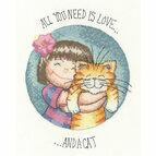 All You Need Is Love And A Cat Cross Stitch Kit