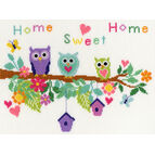 Owl Bouquet Cross Stitch Kit
