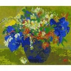 Gauguin - A Vase Of Flowers Cross Stitch Kit