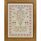 Swag & Heart Wedding Sampler Cross Stitch Kit