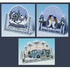 3D Favourites Cross Stitch Christmas Card Kits (Set Of 3)