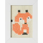 Fox Felt Cross Stitch Kit With Frame