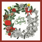 Zenbroidery - Christmas Wreath Fabric Pack