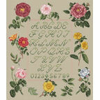 Floral Sampler By Jenny Barton Cross Stitch Kit