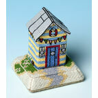 Beach Hut 3D Cross Stitch Kit