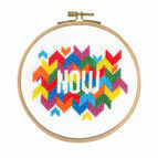 Now Cross Stitch Kit With Hoop