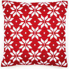 Bold Geometric Flowers Long Stitch Cushion Panel Kit